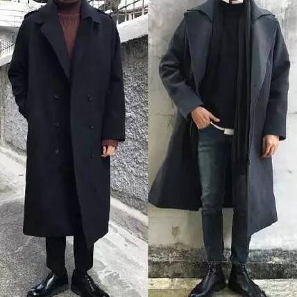 呢大衣是最修饰身材的衣服,不管是有小肚子,太瘦,肥胖,还是上下身比例图片