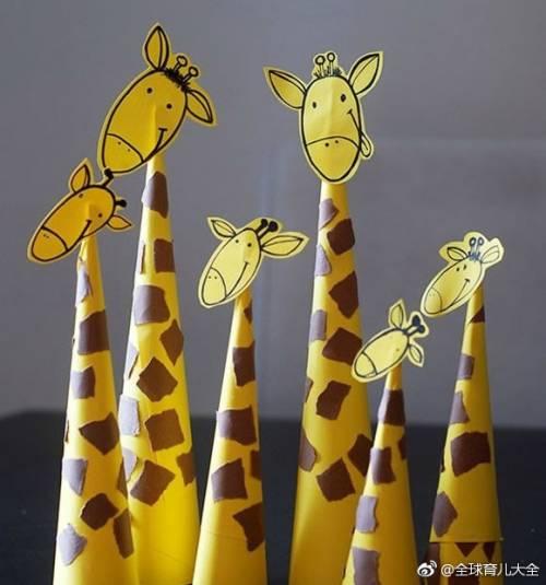 【卡纸长颈鹿制作方法】收藏着给宝宝幼儿园用哟