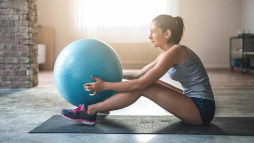 经典瑜伽球训练,全身减脂塑形.