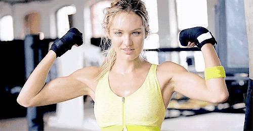 健身中的女人最性感